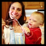 Julie Henry Cooking with her youngest