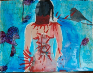 Painting depicting the pain of Fibromyalgia